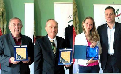 Zsoffay Róbert, Antal Andor, dr.Miltényi Márta leánya és Gyulai Miklós MASZ elnök a díjátadáson/ foto: Rztkovszky Ede